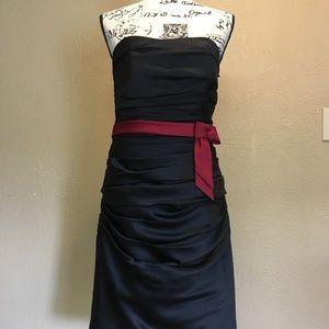 Alfred Angelo black strapless dress